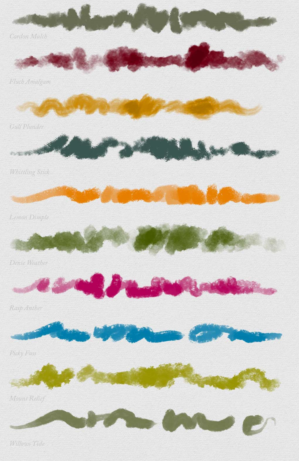 10 Photoshop oil brushes
