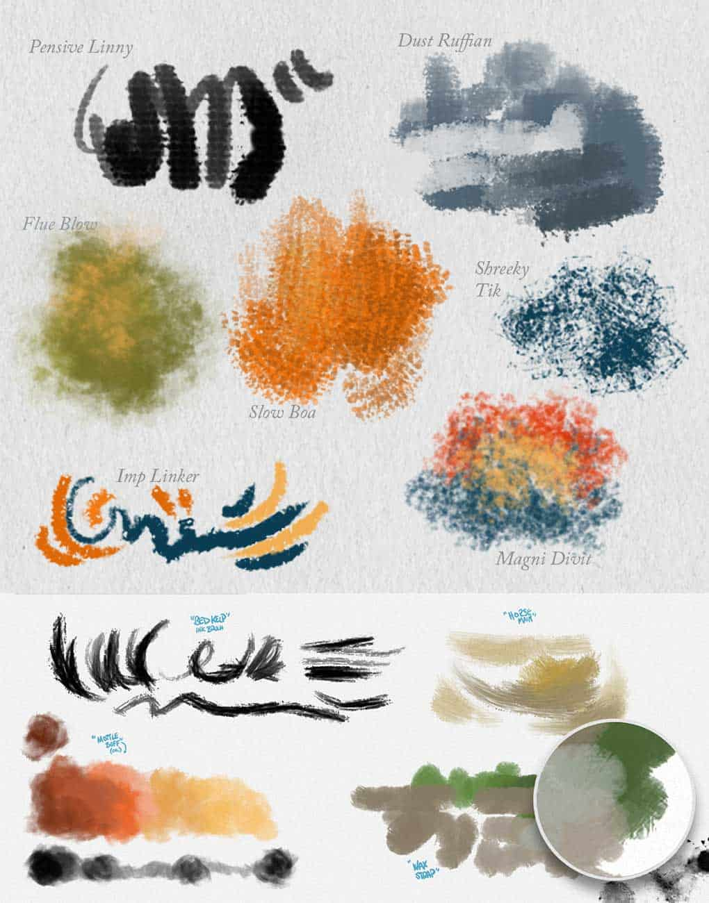 Miscellaneous digital painting brushes