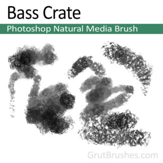 Photoshop Natural Media Brush for digital artists 'Bass Crate'