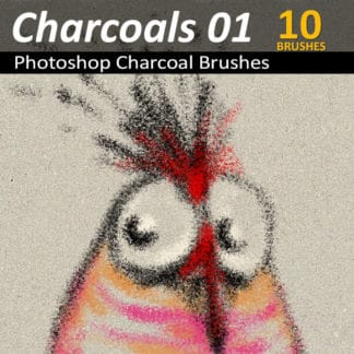 Charcoals 01 - 10 Photoshop Charcoal Brushes