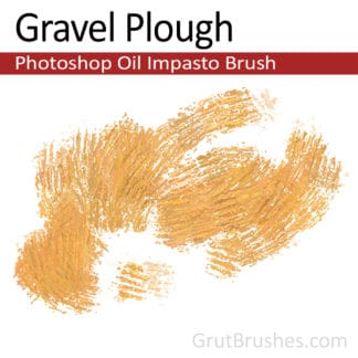 Gravel plough - Impasto Oil Photoshop Brush