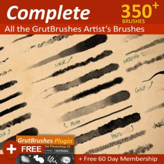 Photoshop brush set - 350 Photoshop brushes