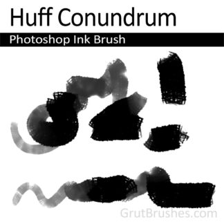 Photoshop Ink Brush for digital artists 'Huff Conundrum'