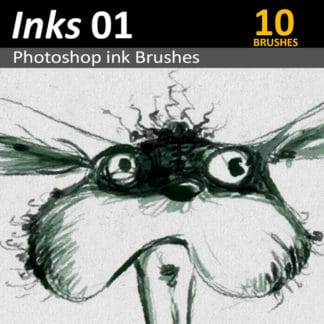 Inks 01 - Photoshop Ink Brushes