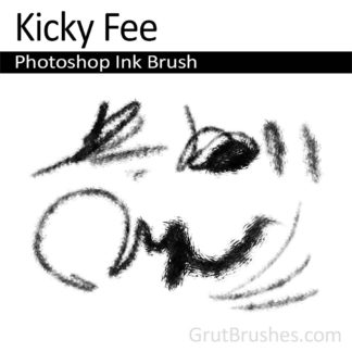 Photoshop Ink Brush for digital artists 'Kicky Fee'