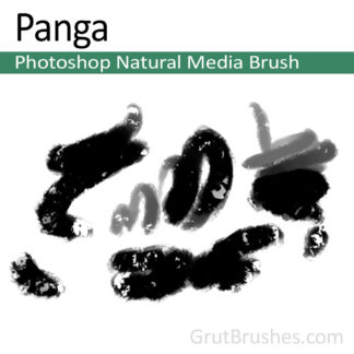 Photoshop Natural Media Brush for digital artists 'Panga'