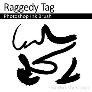 Raggedy Tag - Photoshop Ink Brush