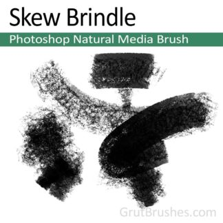 Photoshop New Media Brush for digital artists 'Skew Brindle'