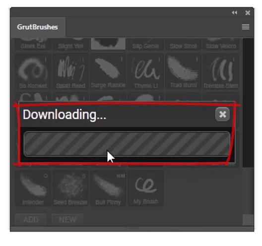 click download to download and install the brush directly into Photoshop