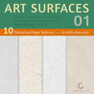11 high resolution paper textures from GrutBrushes.com (Product Image)