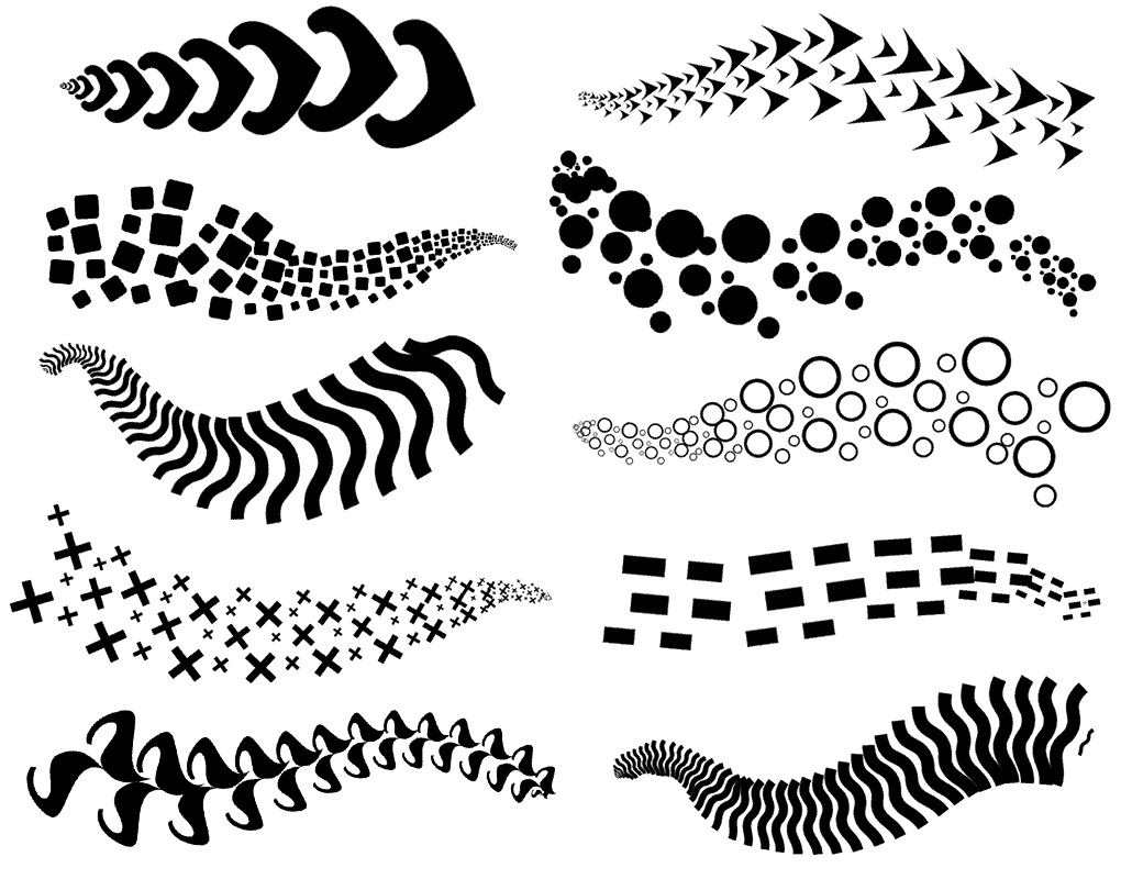 10 New Photoshop pattern brushes added in October 2018