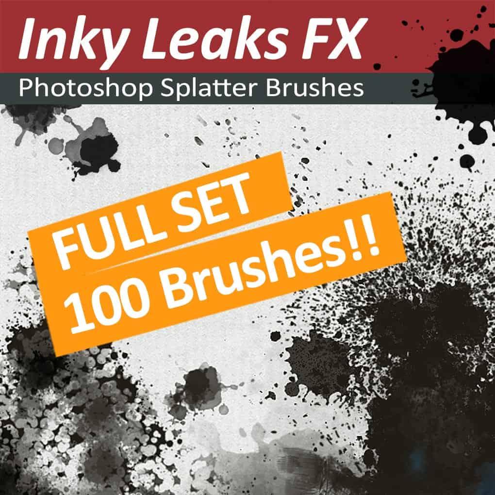 100 Photoshop splatter brushes