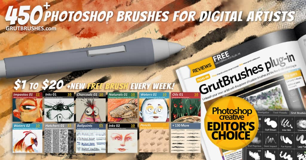 450 Photoshop Brushes for Digital Artists