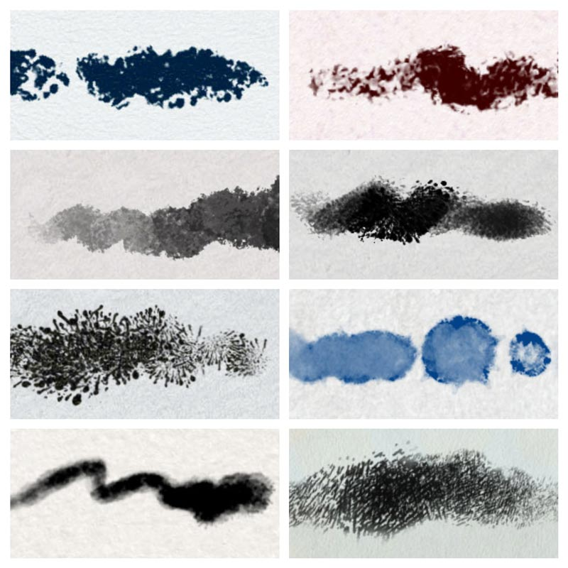 8 Procreate Brushes (enlarged 300%)