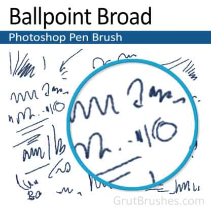 Ballpoint Broad - Photoshop Ink Brush