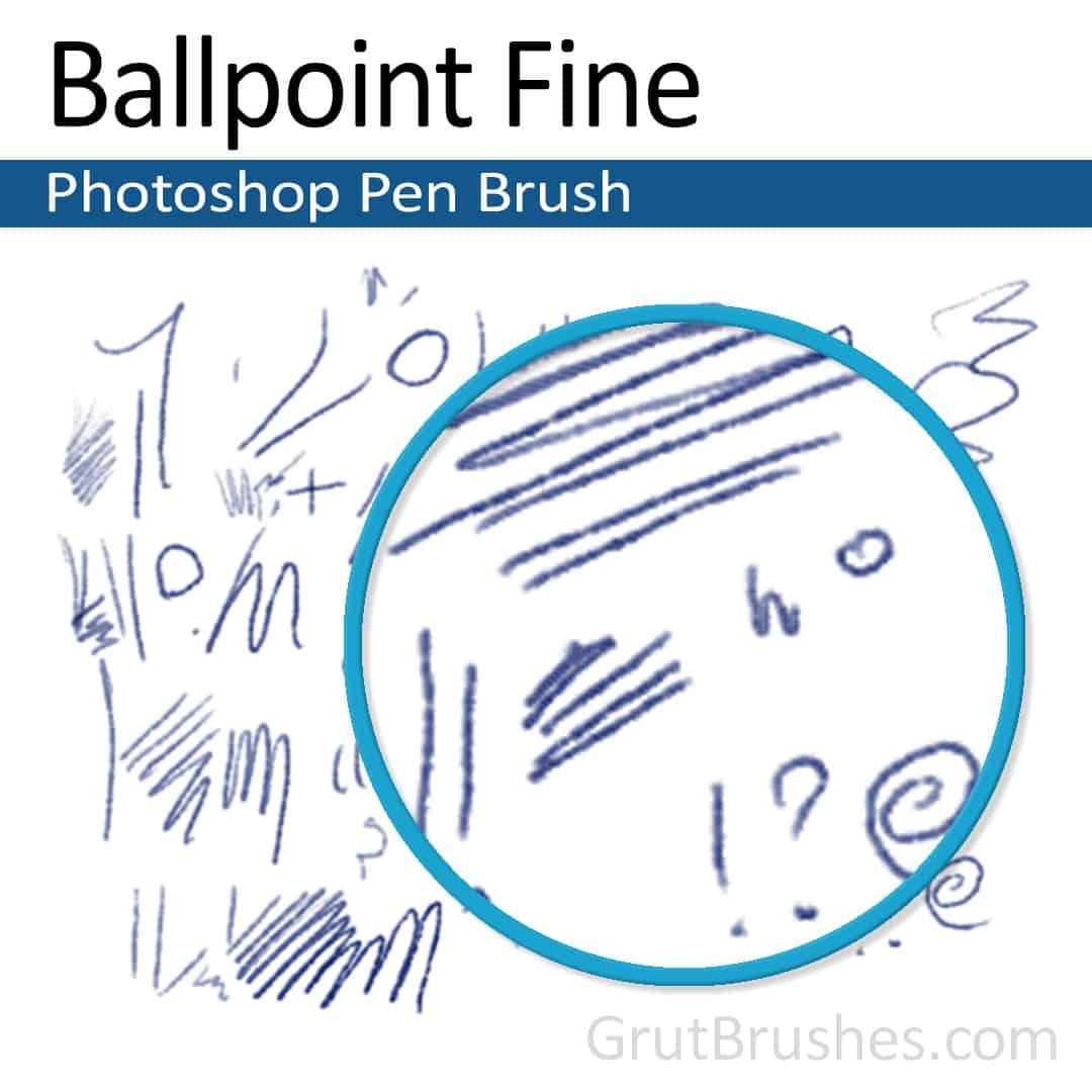 Ballpoint Fine - Photoshop Ink Brush