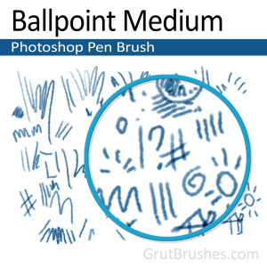 'Ballpoint Medium' Photoshop Ink brush ballpoint Photoshop pen