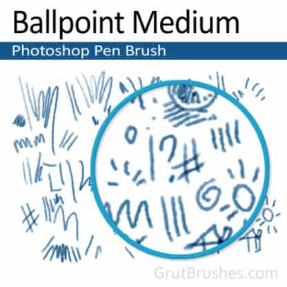 Ballpoint Medium - Photoshop Ink Brush