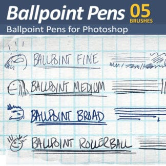 Ballpoint Pens - 4 Photoshop Ballpoint pen Brushes