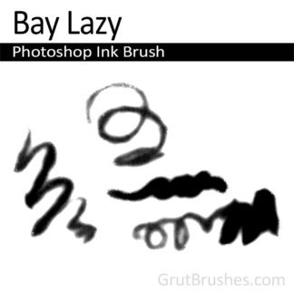 Photoshop Ink Brush for digital artists 'Bay Lazy'