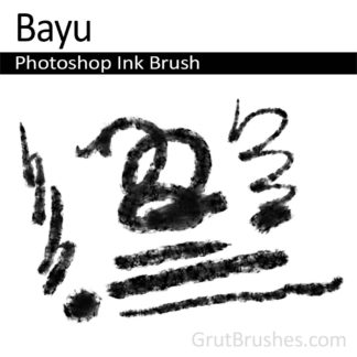 Photoshop Ink Brush for digital artists 'Bayu'