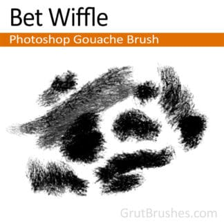 Photoshop Gouache Brush for digital artists 'Bet Wiffle'