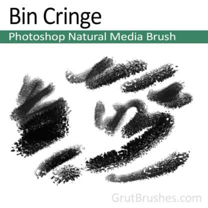 Photoshop Natural Media Brush for digital artists 'Bin Cringe'