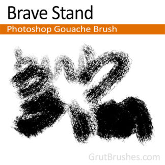 Photoshop Gouache Brush for digital artists 'Brave Stand'