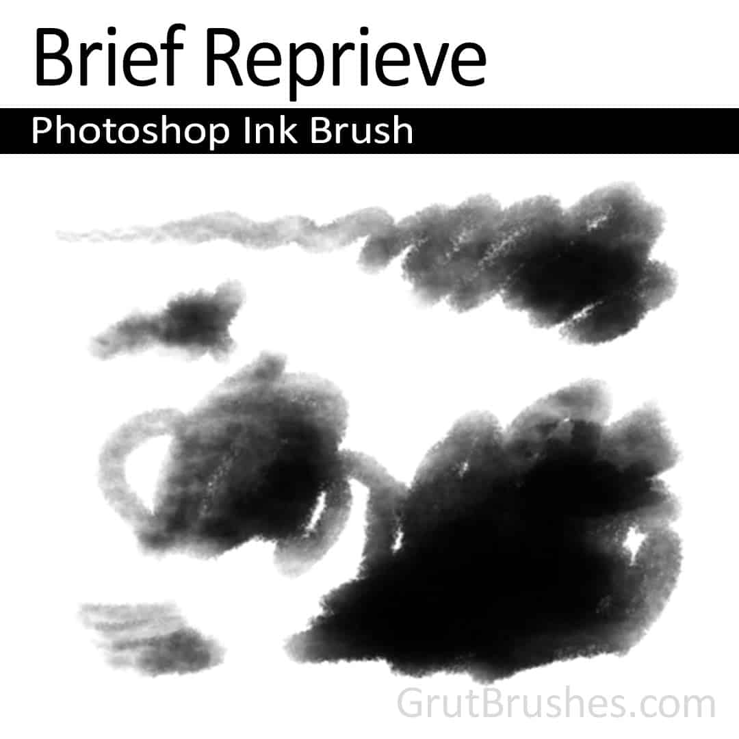'Brief Reprieve' Photoshop ink brush for digital painting