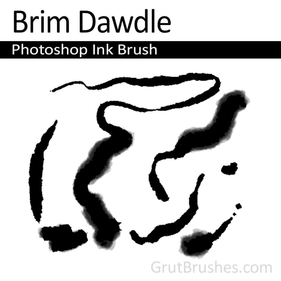 'Brim Dawdle' Photoshop ink brush for digital painting