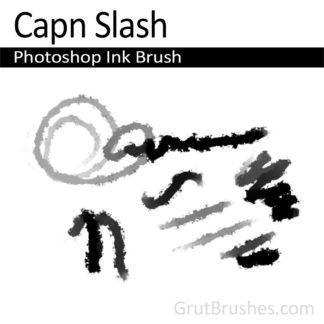 Photoshop Ink Brush for digital artists 'Capn Slash'