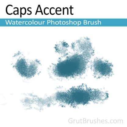 Photoshop Watercolour Brush for digital artists 'Caps Accent'