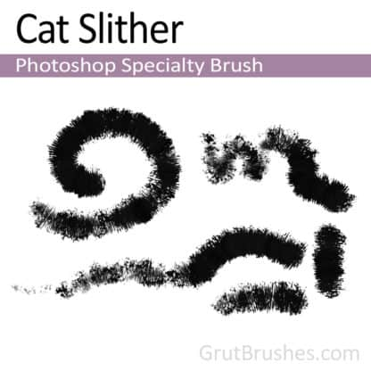 Photoshop Specialty Brush for digital artists 'Cat Slither'