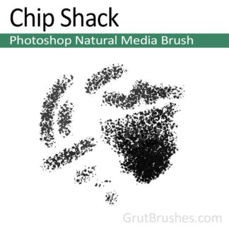 Photoshop Natural Media Brush for digital artists 'Chip Shack'
