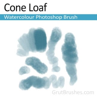 Photoshop Watercolour Brush for digital artists 'Cone Loaf'