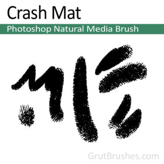 Photoshop Natural Media Brush for digital artists 'Crash Mat'
