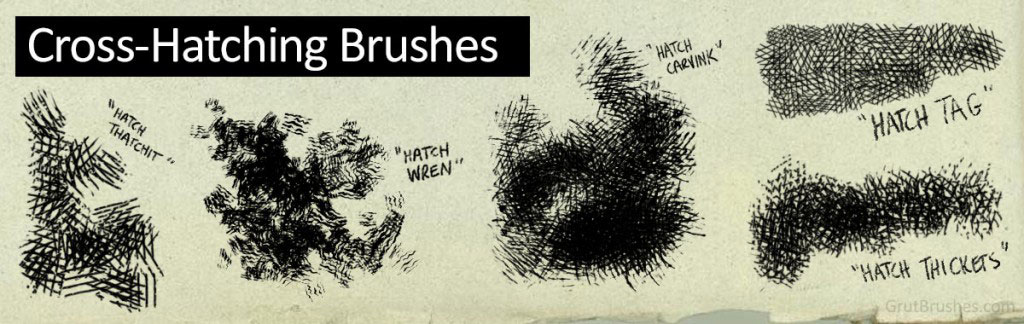 Cross-Hatch Photoshop Brushes