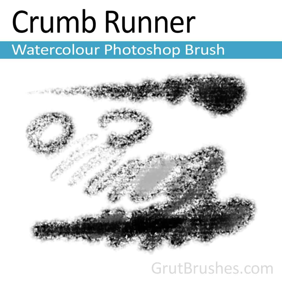 'Crumb Runner' Photoshop watercolor brush for digital painting