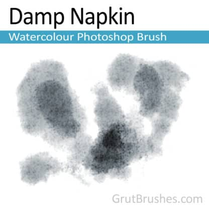 Damp Napkin - Photoshop Watercolor Brush