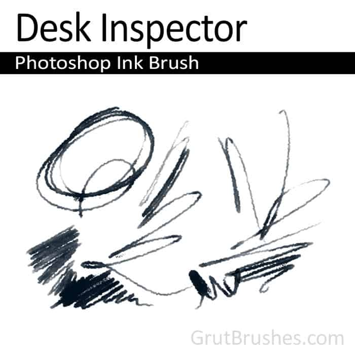 'Desk Inspector' Photoshop ink brush for digital painting