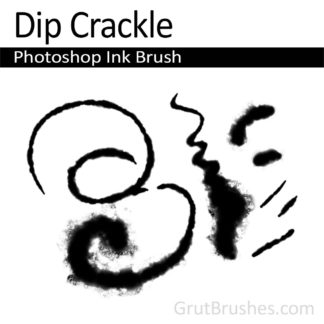 Photoshop Natural Media Brush for digital artists 'Dip Crackle'