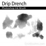 "Photoshop Ink Wash Brush ""Drip Drench"""