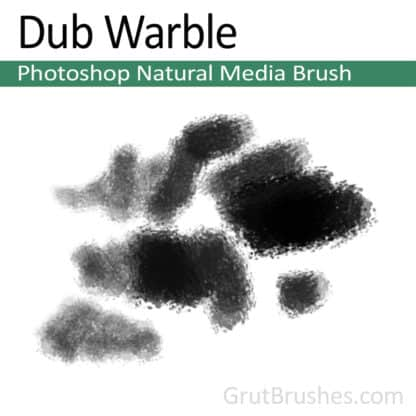 Photoshop Natural Media Brush for digital artists 'Dub Warble'
