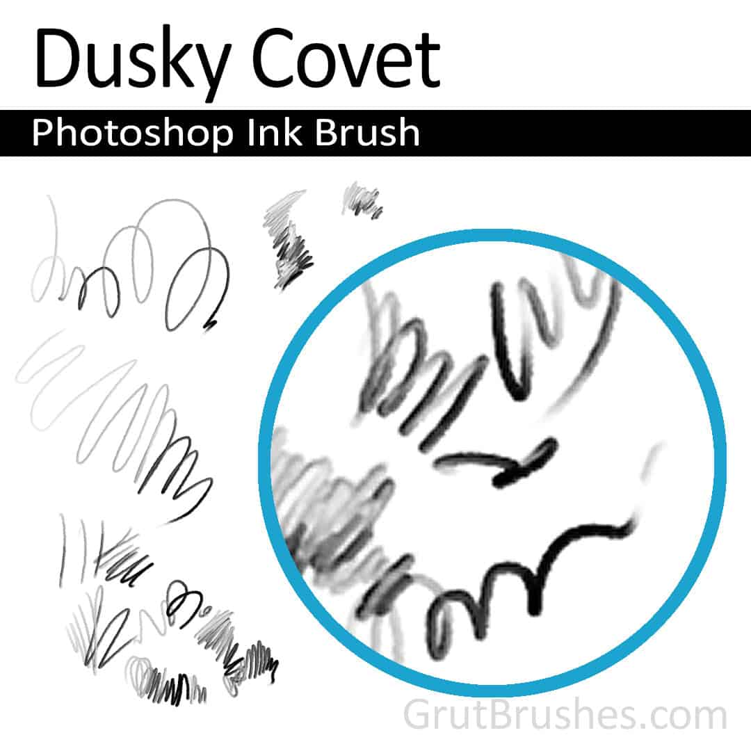 'Dusky Covet' Photoshop ink brush for digital painting