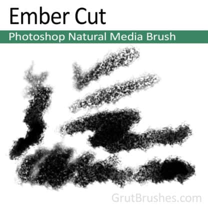 Photoshop Natural Media Brush for digital artists 'Ember Cut'