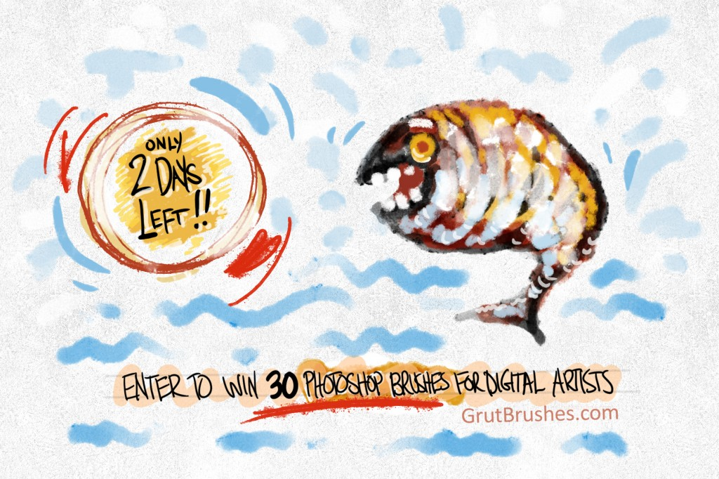 Enter raffle to win 30 digital artists Photoshop brushes