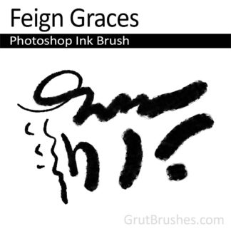 Photoshop Ink Brush for digital artists 'Feign Graces'