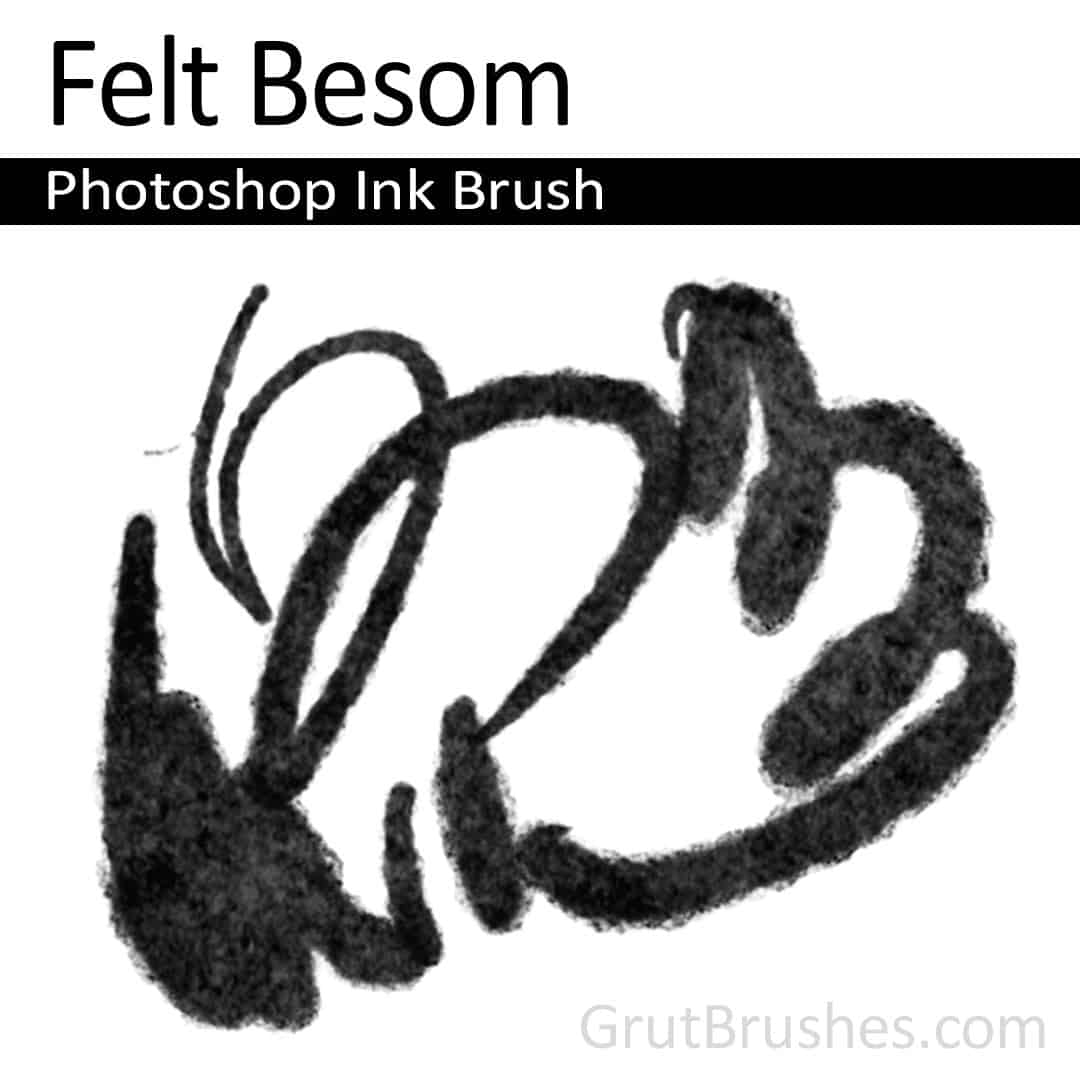'Felt Besom' Photoshop ink brush for digital painting