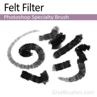 Photoshop Charcoal Brush for digital artists 'Felt Filter'