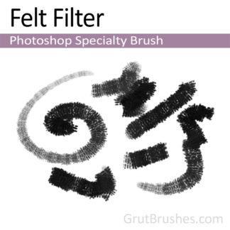 Photoshop Charcoal Brush for digital artists 'Felt Filter'